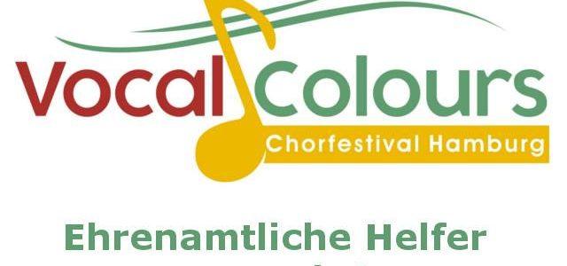 Ehrenamtliche Helfer für Vocal Colours Chorfestival gesucht!
